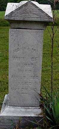 HAINES RAY, HANNAH - Carroll County, Ohio | HANNAH HAINES RAY - Ohio Gravestone Photos
