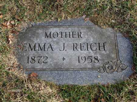 STONEMAN REICH, EMMA JANE - Carroll County, Ohio | EMMA JANE STONEMAN REICH - Ohio Gravestone Photos