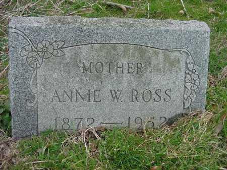ROSS, ANNIE W. - Carroll County, Ohio | ANNIE W. ROSS - Ohio Gravestone Photos
