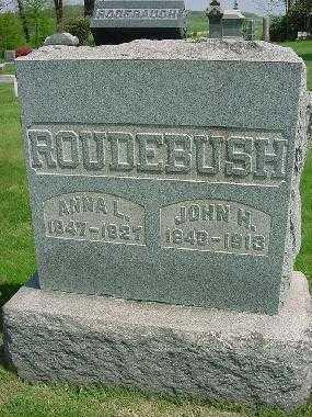 ROUDEBUSH, JOHN H. - Carroll County, Ohio | JOHN H. ROUDEBUSH - Ohio Gravestone Photos
