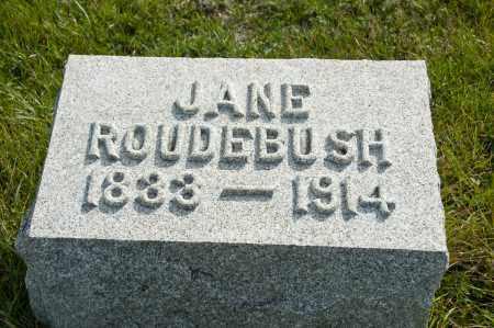MORGAN ROUDEBUSH, JANE - Carroll County, Ohio | JANE MORGAN ROUDEBUSH - Ohio Gravestone Photos