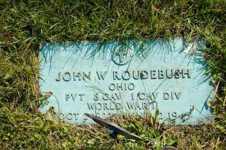 ROUDEBUSH, JOHN W. - Carroll County, Ohio | JOHN W. ROUDEBUSH - Ohio Gravestone Photos