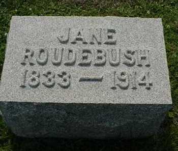 ROUDEBUSH, JANE - Carroll County, Ohio | JANE ROUDEBUSH - Ohio Gravestone Photos
