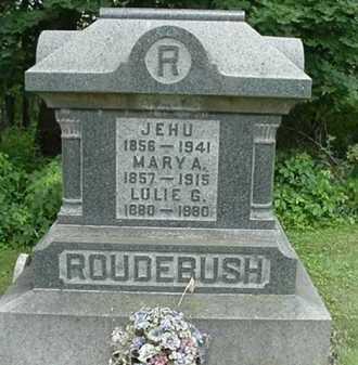 RAY ROUDEBUSH, MARY A. - Carroll County, Ohio | MARY A. RAY ROUDEBUSH - Ohio Gravestone Photos