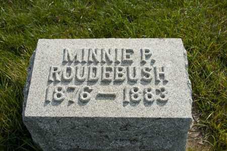 ROUDEBUSH, MINNIE P - Carroll County, Ohio | MINNIE P ROUDEBUSH - Ohio Gravestone Photos