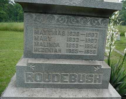 ROUDEBUSH, MELINDA - Carroll County, Ohio | MELINDA ROUDEBUSH - Ohio Gravestone Photos