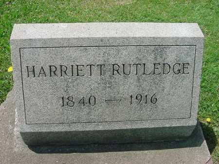 RUTLEDGE, HARRIETT - Carroll County, Ohio | HARRIETT RUTLEDGE - Ohio Gravestone Photos