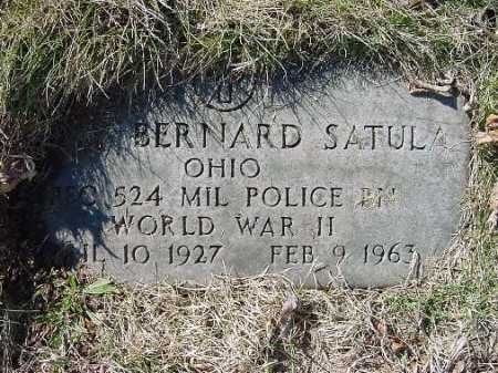 SATULA, BERNARD - Carroll County, Ohio | BERNARD SATULA - Ohio Gravestone Photos