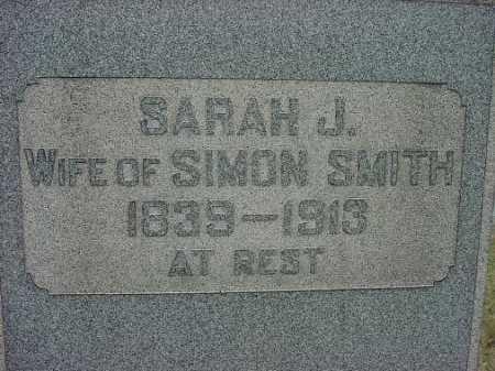 SMITH, SARAH J. - CLOSE VIEW - Carroll County, Ohio   SARAH J. - CLOSE VIEW SMITH - Ohio Gravestone Photos
