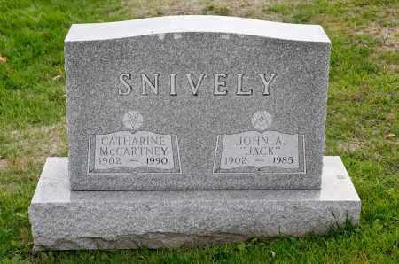 SNIVELY, CATHARINE - Carroll County, Ohio | CATHARINE SNIVELY - Ohio Gravestone Photos