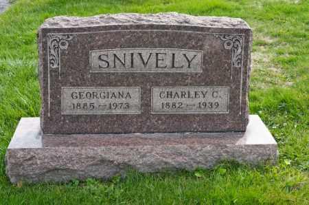 WESTFALL SNIVELY, GEORGIANA - Carroll County, Ohio | GEORGIANA WESTFALL SNIVELY - Ohio Gravestone Photos