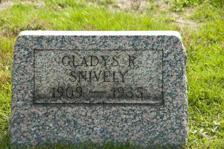 SNIVELY, GLADYS R - Carroll County, Ohio   GLADYS R SNIVELY - Ohio Gravestone Photos