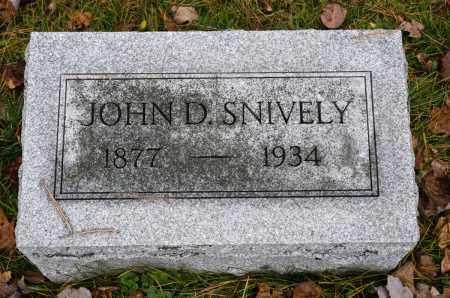 SNIVELY, JOHN D. - Carroll County, Ohio | JOHN D. SNIVELY - Ohio Gravestone Photos