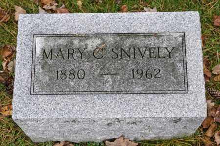 SNIVELY, MARY C. - Carroll County, Ohio | MARY C. SNIVELY - Ohio Gravestone Photos