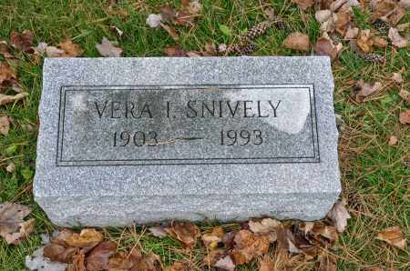SNIVELY, VERA I. - Carroll County, Ohio | VERA I. SNIVELY - Ohio Gravestone Photos