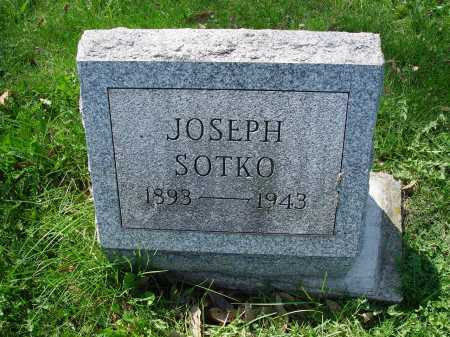 SOTKO, JOSEPH - Carroll County, Ohio   JOSEPH SOTKO - Ohio Gravestone Photos