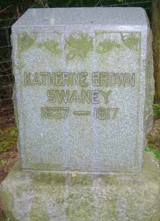 BROWN SWANEY, KATHERINE - Carroll County, Ohio   KATHERINE BROWN SWANEY - Ohio Gravestone Photos