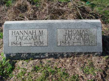 TAGGART, HANNAH M. - Carroll County, Ohio | HANNAH M. TAGGART - Ohio Gravestone Photos