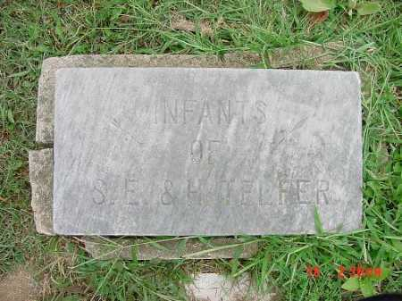 TELFER, INFANTS - Carroll County, Ohio   INFANTS TELFER - Ohio Gravestone Photos