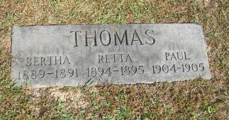 THOMAS, RETTA - Carroll County, Ohio | RETTA THOMAS - Ohio Gravestone Photos