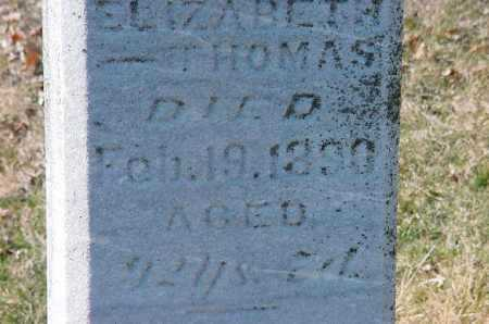 THOMAS, ELIZABETH - Carroll County, Ohio | ELIZABETH THOMAS - Ohio Gravestone Photos