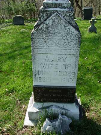 TOKES, MARY - Carroll County, Ohio | MARY TOKES - Ohio Gravestone Photos