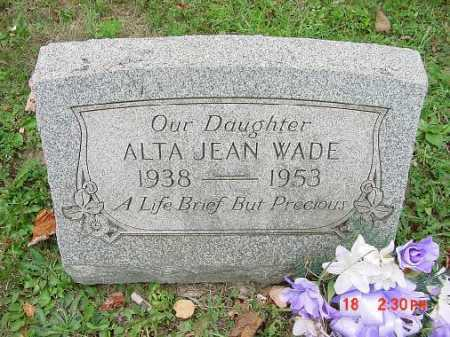WADE, ALTA JEAN - Carroll County, Ohio | ALTA JEAN WADE - Ohio Gravestone Photos