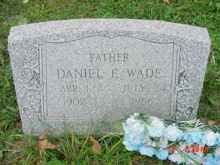 WADE, DANIEL E. - Carroll County, Ohio | DANIEL E. WADE - Ohio Gravestone Photos