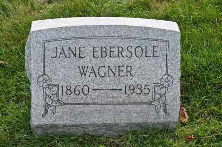 EBERSOLE WAGNER, JANE - Carroll County, Ohio | JANE EBERSOLE WAGNER - Ohio Gravestone Photos