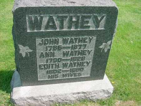 WATHEY, JOHN - Carroll County, Ohio | JOHN WATHEY - Ohio Gravestone Photos