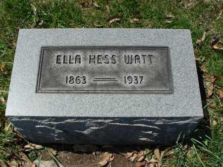 WATT, ELLA - Carroll County, Ohio | ELLA WATT - Ohio Gravestone Photos