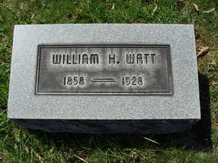 WATT, WILLIAM H. - Carroll County, Ohio | WILLIAM H. WATT - Ohio Gravestone Photos