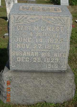 WEST, SUSANAH - Carroll County, Ohio   SUSANAH WEST - Ohio Gravestone Photos