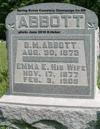 ABBOTT, EMMA E. - Champaign County, Ohio | EMMA E. ABBOTT - Ohio Gravestone Photos