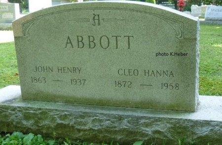 ABBOTT, JOHN HENRY - Champaign County, Ohio | JOHN HENRY ABBOTT - Ohio Gravestone Photos