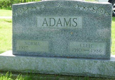 ADAMS, CLELL DEWEY - Champaign County, Ohio | CLELL DEWEY ADAMS - Ohio Gravestone Photos