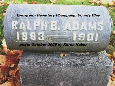 ADAMS, RALPH B. - Champaign County, Ohio | RALPH B. ADAMS - Ohio Gravestone Photos