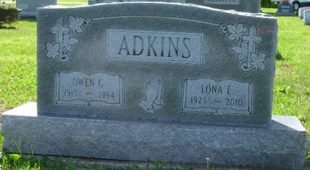 ADKINS, OWEN GILLAM - Champaign County, Ohio | OWEN GILLAM ADKINS - Ohio Gravestone Photos