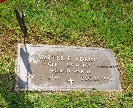 ADKINS, WALTER EVERETT - Champaign County, Ohio   WALTER EVERETT ADKINS - Ohio Gravestone Photos