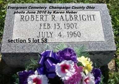 ALBRIGHT, ROBERT R. - Champaign County, Ohio | ROBERT R. ALBRIGHT - Ohio Gravestone Photos