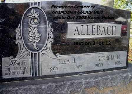 ALLEBACH, GEORGIA - Champaign County, Ohio | GEORGIA ALLEBACH - Ohio Gravestone Photos