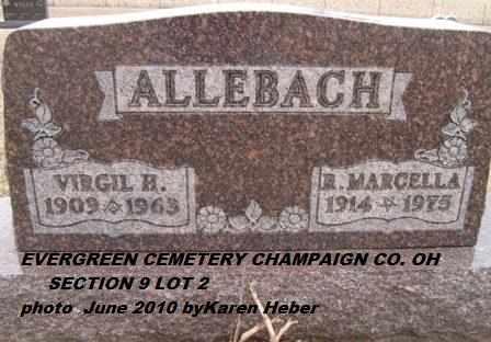 BURROUGHS ALLEBACH, RUBY - Champaign County, Ohio | RUBY BURROUGHS ALLEBACH - Ohio Gravestone Photos