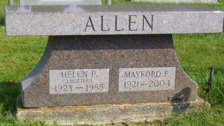 "ALLEN, HELEN FRANCES ""BUTTER"" - Champaign County, Ohio | HELEN FRANCES ""BUTTER"" ALLEN - Ohio Gravestone Photos"
