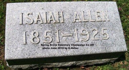 ALLEN, ISAIAH - Champaign County, Ohio | ISAIAH ALLEN - Ohio Gravestone Photos