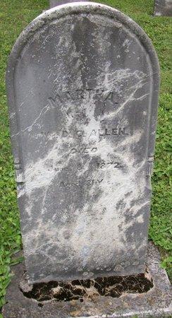 ALLEN, MARTHA - Champaign County, Ohio   MARTHA ALLEN - Ohio Gravestone Photos