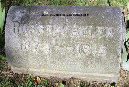 ALLEN, RUSSELL - Champaign County, Ohio   RUSSELL ALLEN - Ohio Gravestone Photos