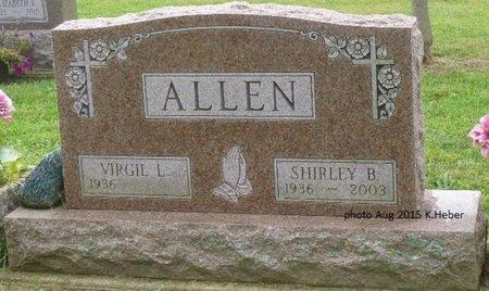 ALLEN, SHIRLEY B - Champaign County, Ohio   SHIRLEY B ALLEN - Ohio Gravestone Photos