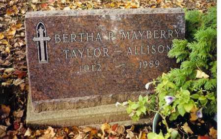 MAYBERRY ALLISON, BERTHA P. - Champaign County, Ohio | BERTHA P. MAYBERRY ALLISON - Ohio Gravestone Photos