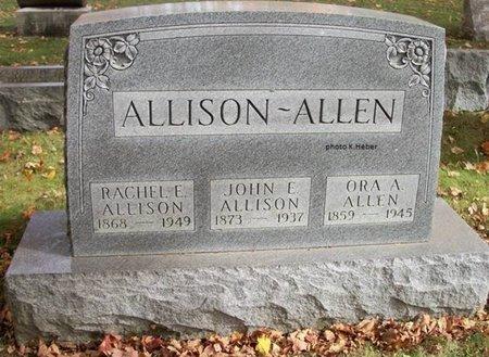 ALLISON, RACHEL E - Champaign County, Ohio   RACHEL E ALLISON - Ohio Gravestone Photos