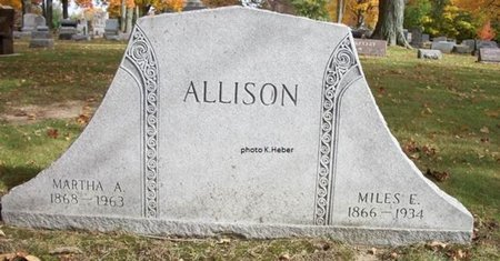 """ALLISON, MARTHA A """"MATTIE - Champaign County, Ohio   MARTHA A """"MATTIE ALLISON - Ohio Gravestone Photos"""